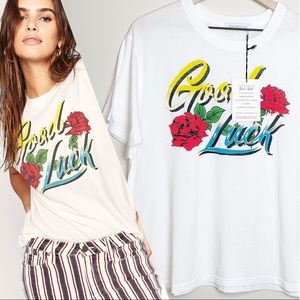 NWT DAYDREAMER | Good Luck Script Boyfriend Tee